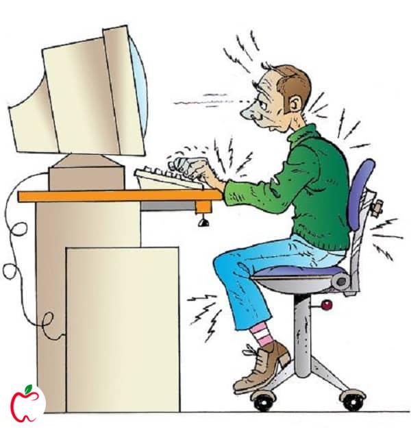 خطرات کار با کامپیوتر برای بدن - سیوطب