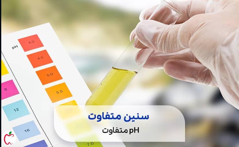 ژل شستشوی بانوان یک نشانگر pH درجه بندی شده سیوطب