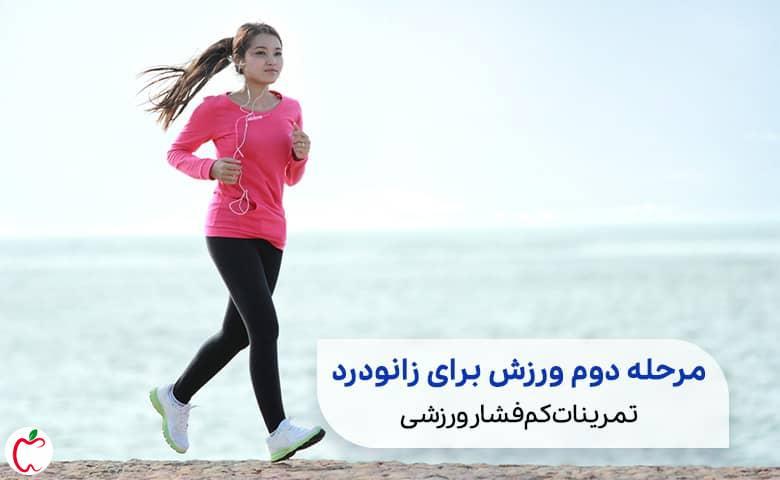 زنی در حال پیاده روی تند سیوطب