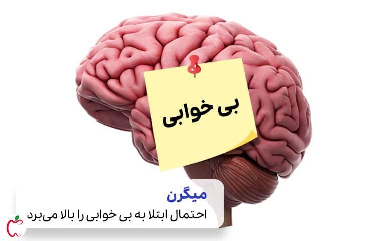 مغز انسان، میگرن و علت بی خوابی  سیوطب